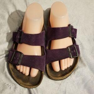 Arizona style purple birkenstocks Sz womens 9/9.5